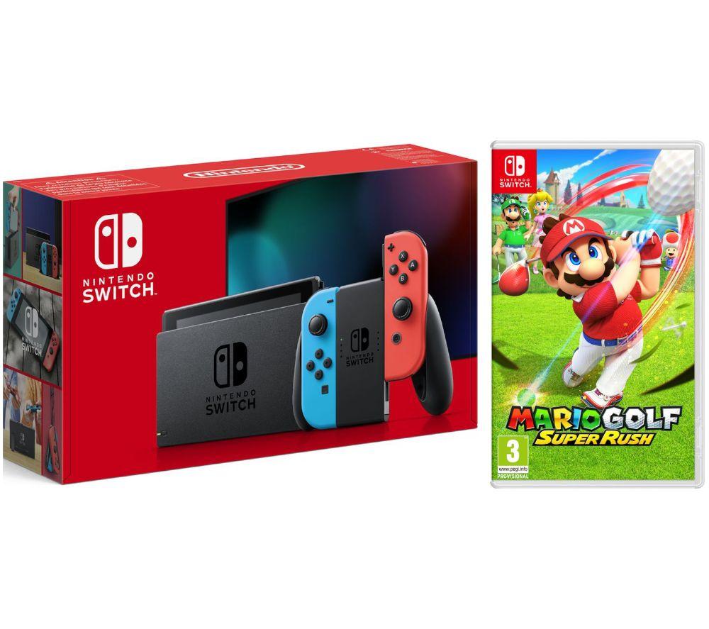 NINTENDO Switch Neon & Mario Golf: Super Rush Bundle