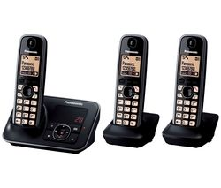 KX-TG6623EB Cordless Phone with Answering Machine - Triple Handsets