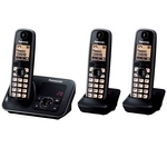 PANASONIC KX-TG6623EB Cordless Phone with Answering Machine - Triple Handsets