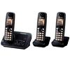 PANASONIC KX-TG6623EB Cordless Phone with Answering Machine - Triple Handsets