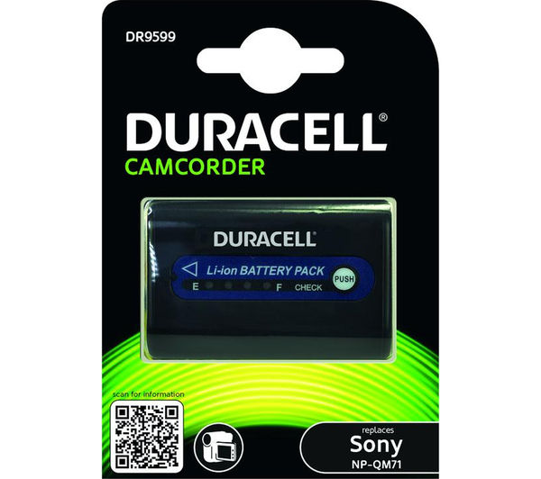 Image of DURACELL DR9599 Lithium-ion Camcorder Battery