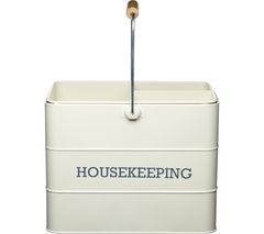 KITCHEN CRAFT Living Nostalgia Vintage Housekeeping Tin - Cream