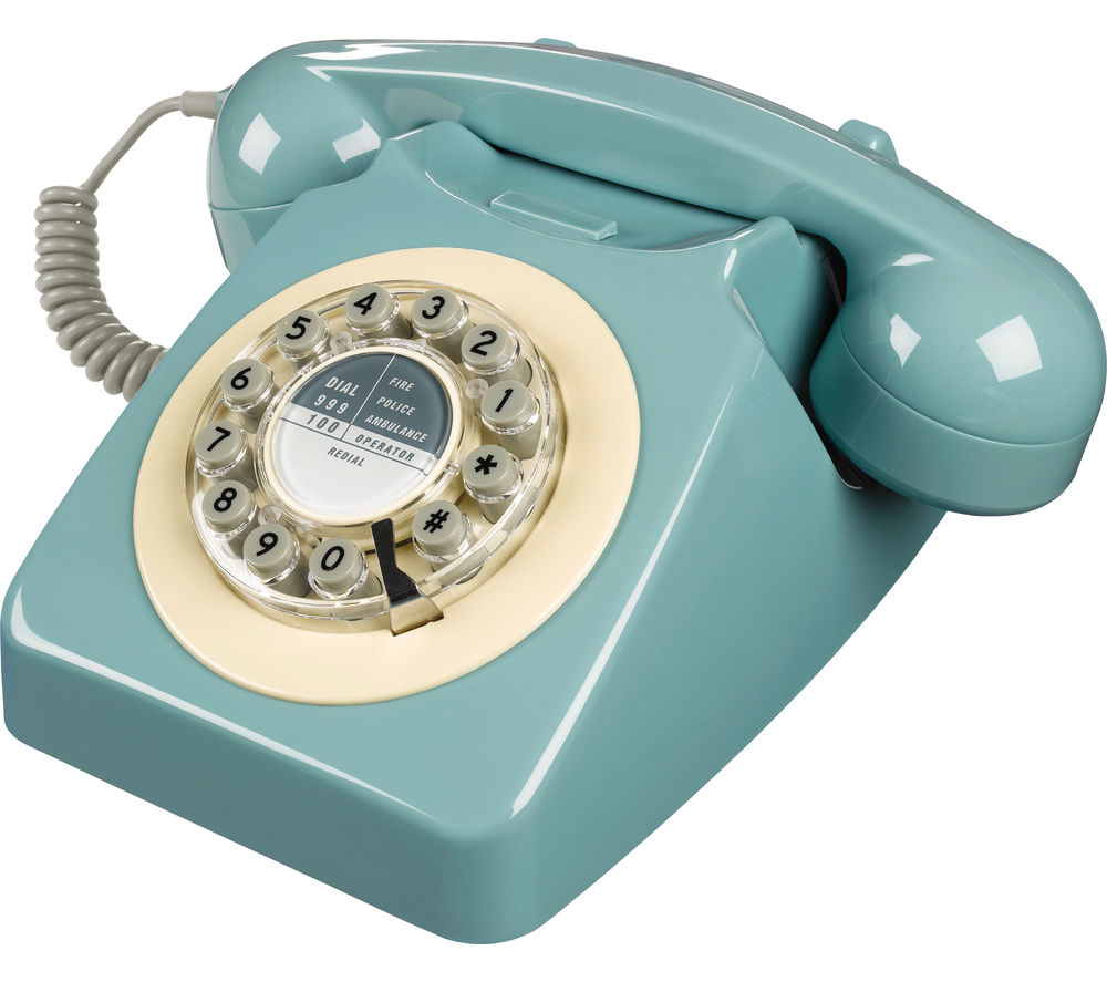 Image of WILD & WOLF 746 Corded Phone - French Blue, Blue