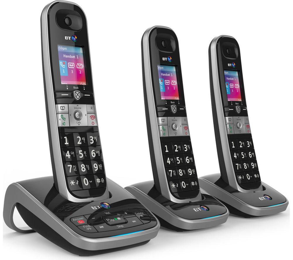 BT 8610 Cordless Phone with Answering Machine - Triple Handsets