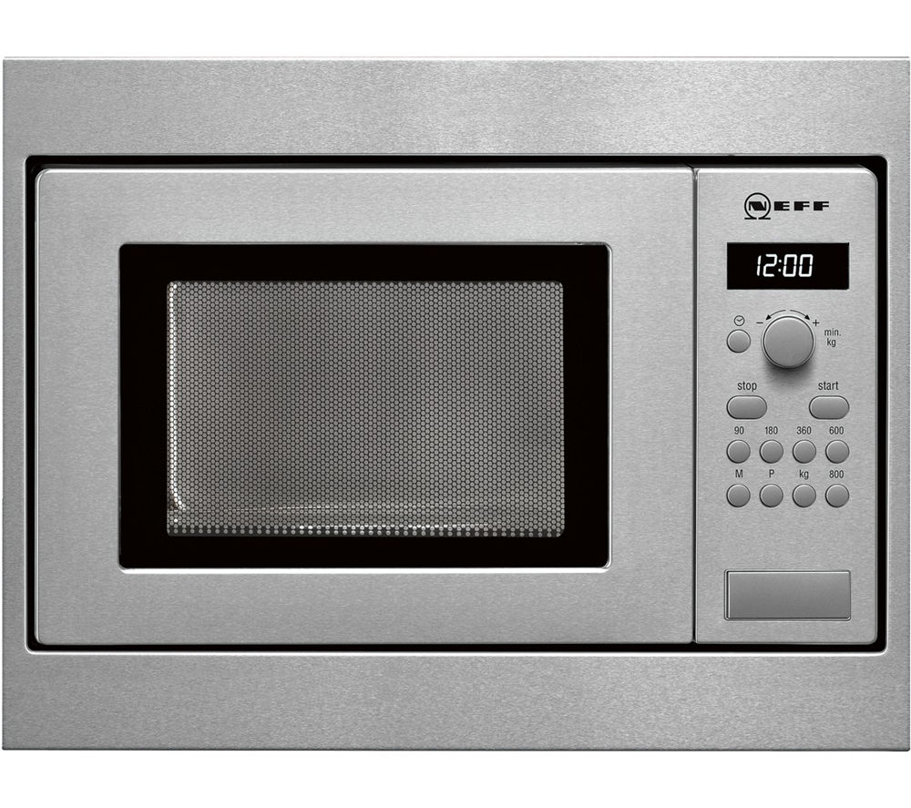NEFF N30 H53W50N3GB Built-in Solo Microwave - Stainless Steel
