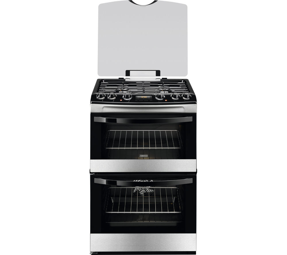 Compare prices for Zanussi ZCK68300X 60cm Dual Fuel Cooker