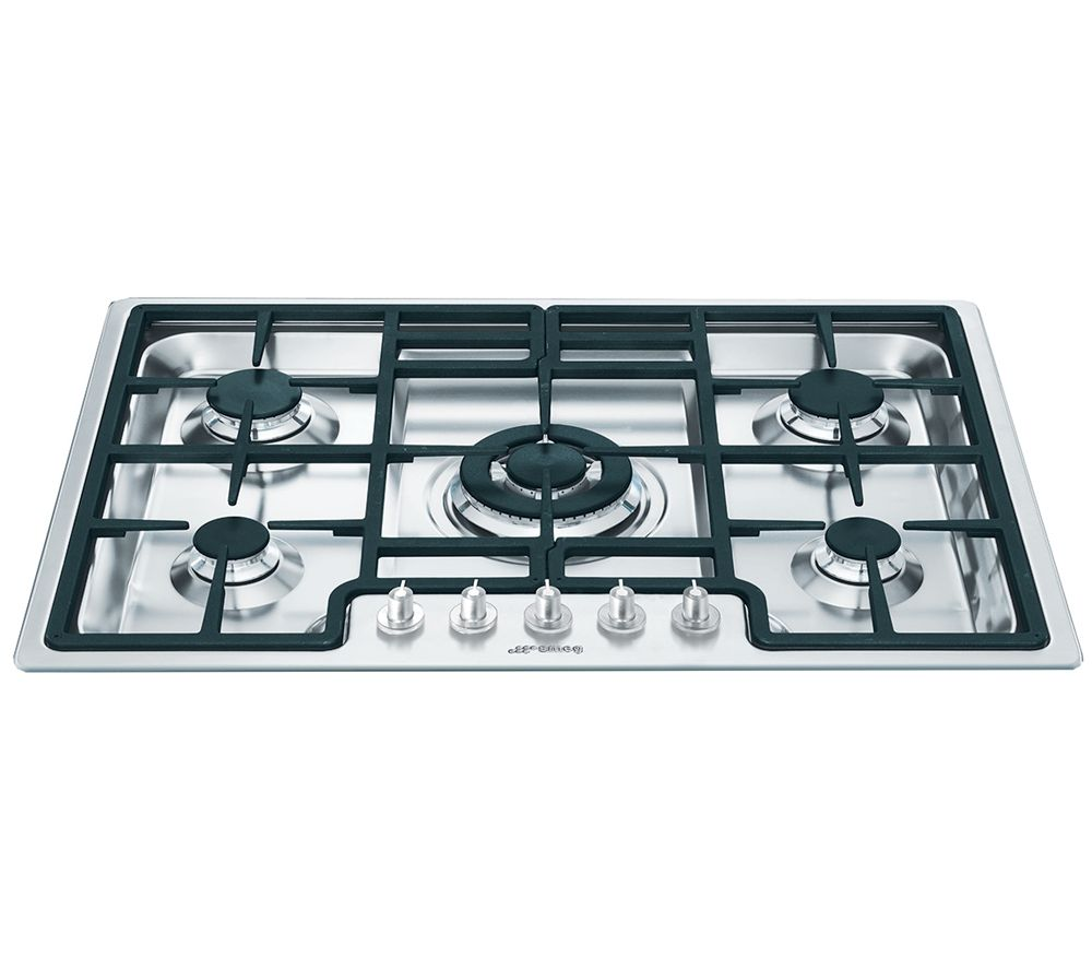 SMEG Classic PGF75-4 Gas Hob - Stainless Steel