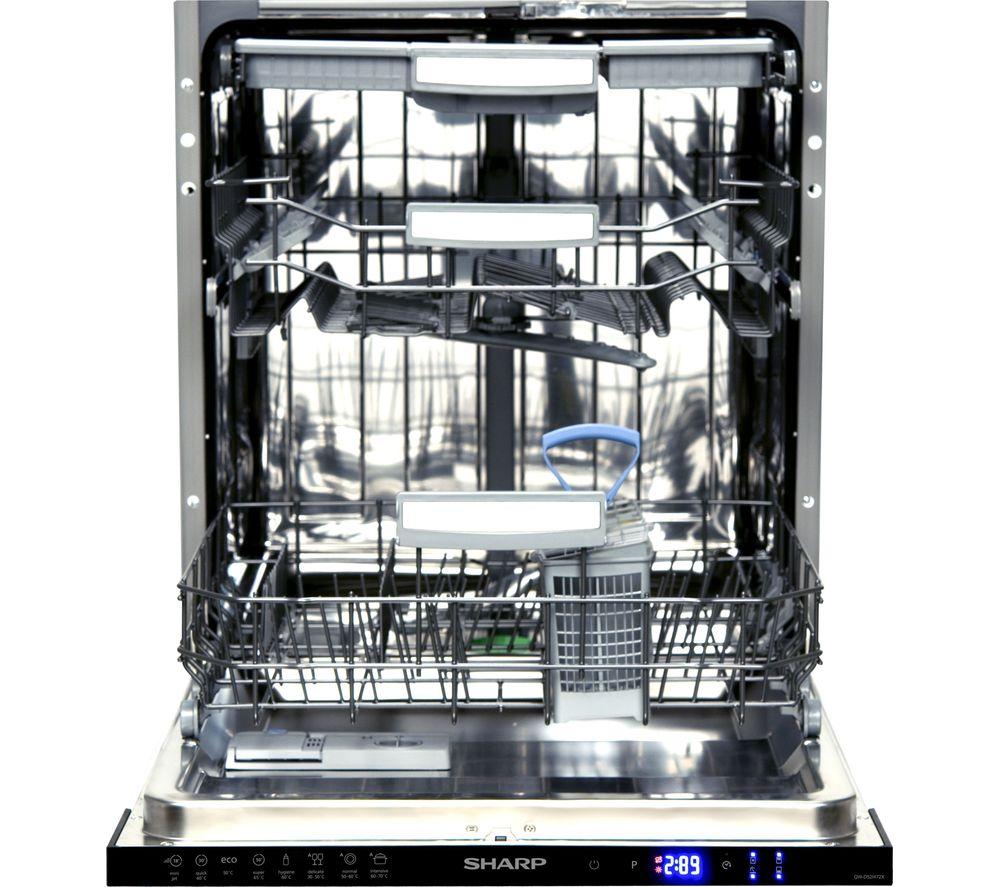 Image of SHARP QW-GD52I472X Full-size Integrated Dishwasher