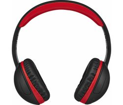 GOJI GOVBT17 Entry Wireless Bluetooth Headphones - Black & Red