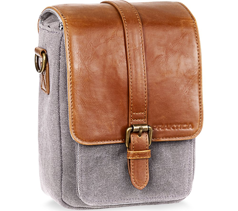 PRAKTICA Heritage Binocular Shoulder Case - Grey & Tan