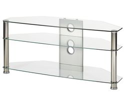 Jet CL-1150 TV Stand - Clear Glass