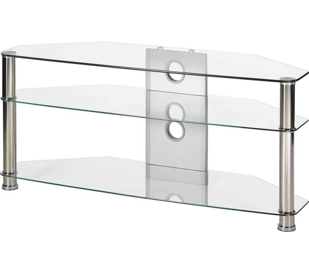 MMT Jet CL-1150 TV Stand - Clear Glass