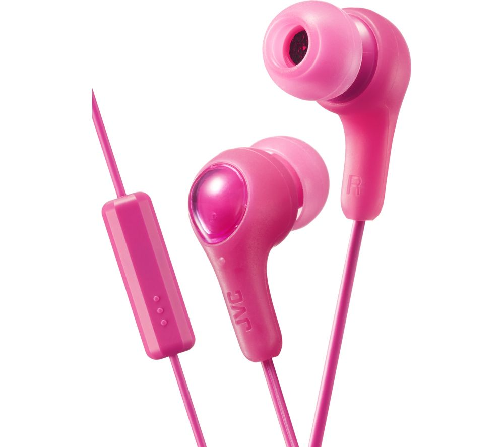 JVC HA-FX7M Gumy Plus Headphones – Pink