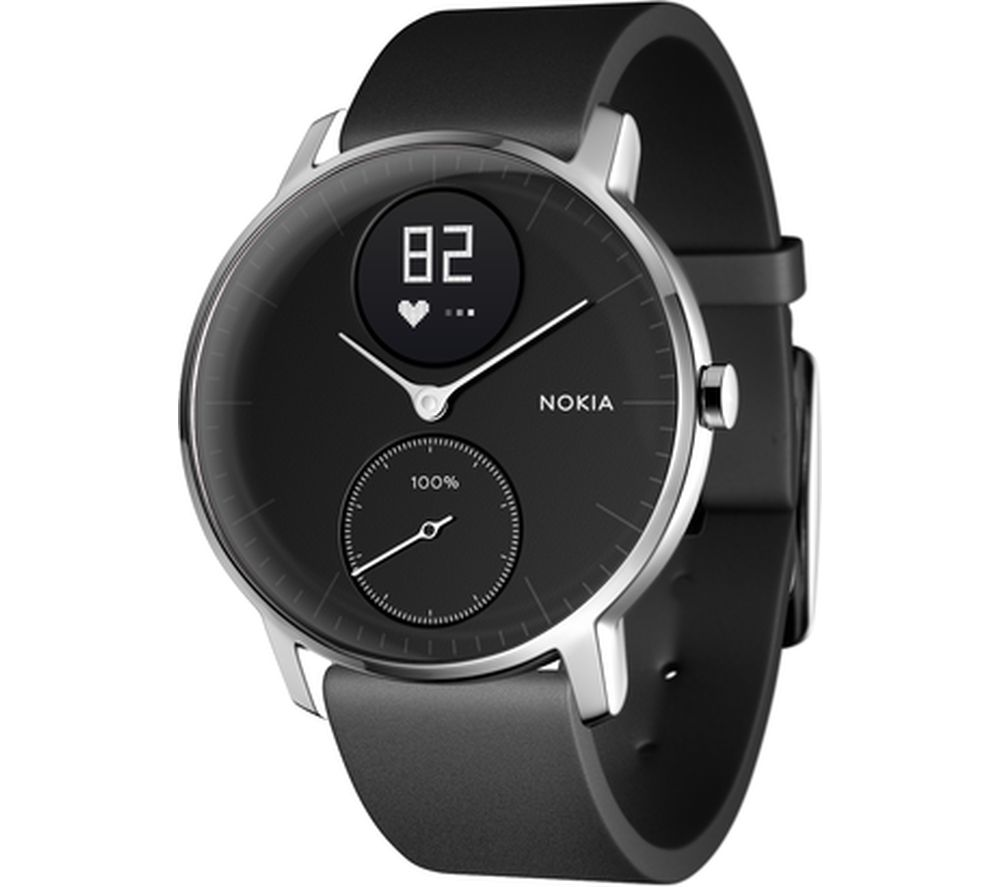 NOKIA Steel HR 36 Fitness Watch - Black, Small