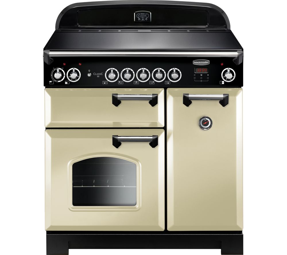 rangemaster classic 90 cm electric induction range cooker. Black Bedroom Furniture Sets. Home Design Ideas