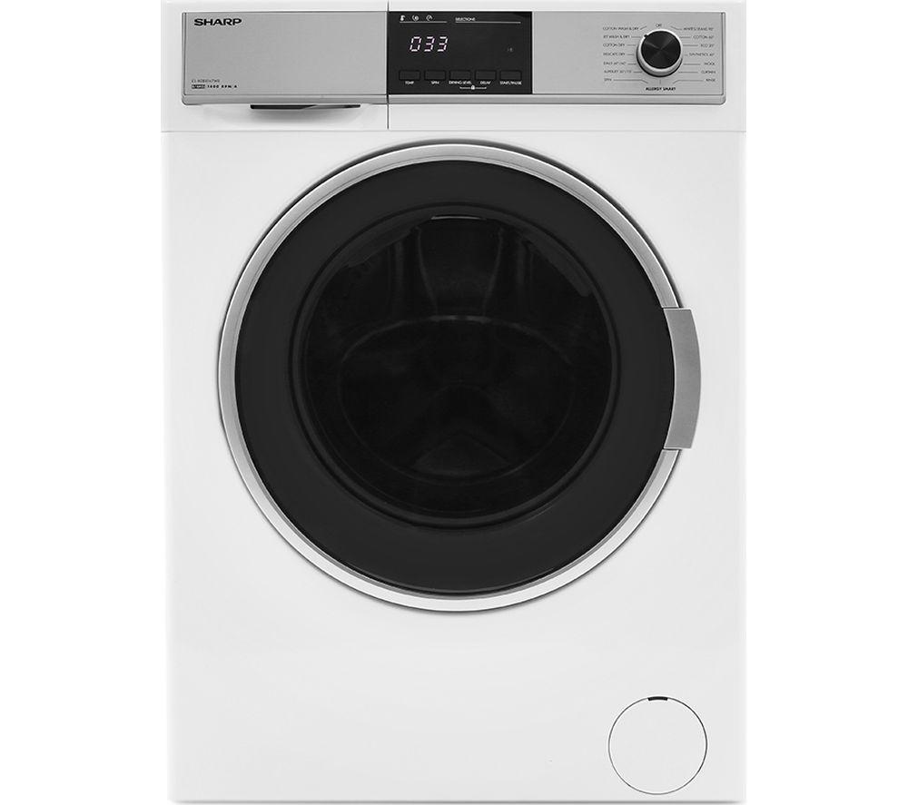 Sharp Washer Dryer ES-HDB8147W0 8 kg - White, White
