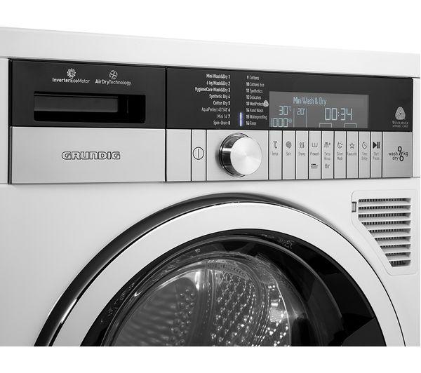 GRUNDIG GWD59400CW 9 kg Washer Dryer - White