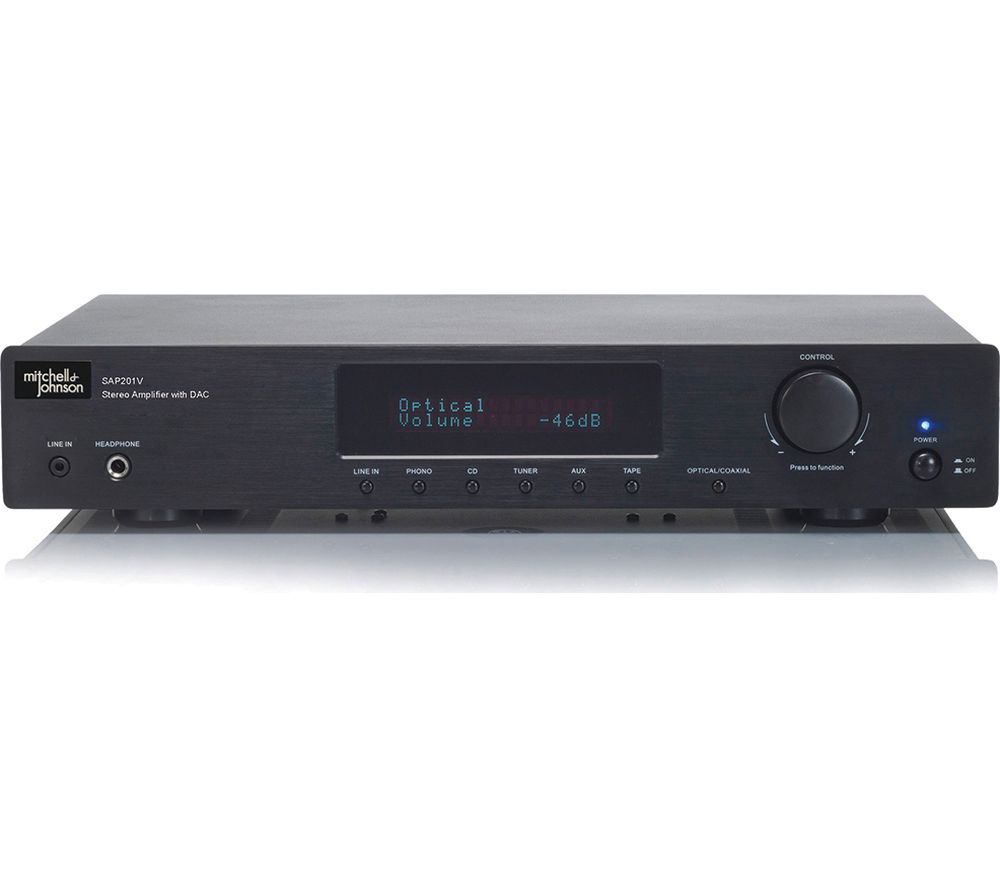 M&J SAP-201V Stereo Amplifier - Black