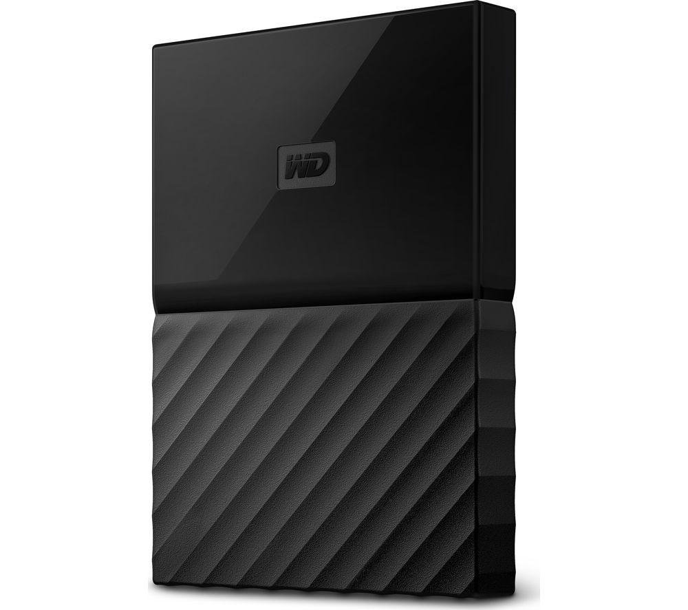Image of WD My Passport Portable Hard Drive - 2 TB, Black, Black