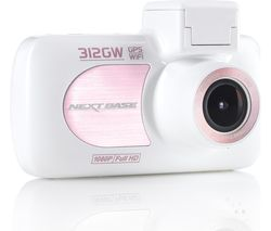 NEXTBASE 312GW Full HD Dash Cam - White Rose Gold