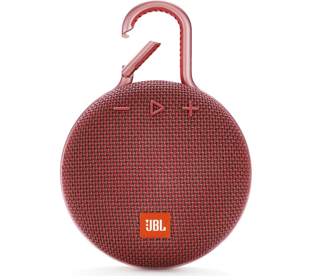 JBL Clip 3 Portable Bluetooth Speaker - Red, Red