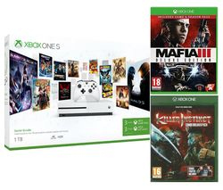 MICROSOFT Xbox One S with 3-Month Game Pass, LIVE Gold Membership, Mafia III, Killer Instinct Bundle