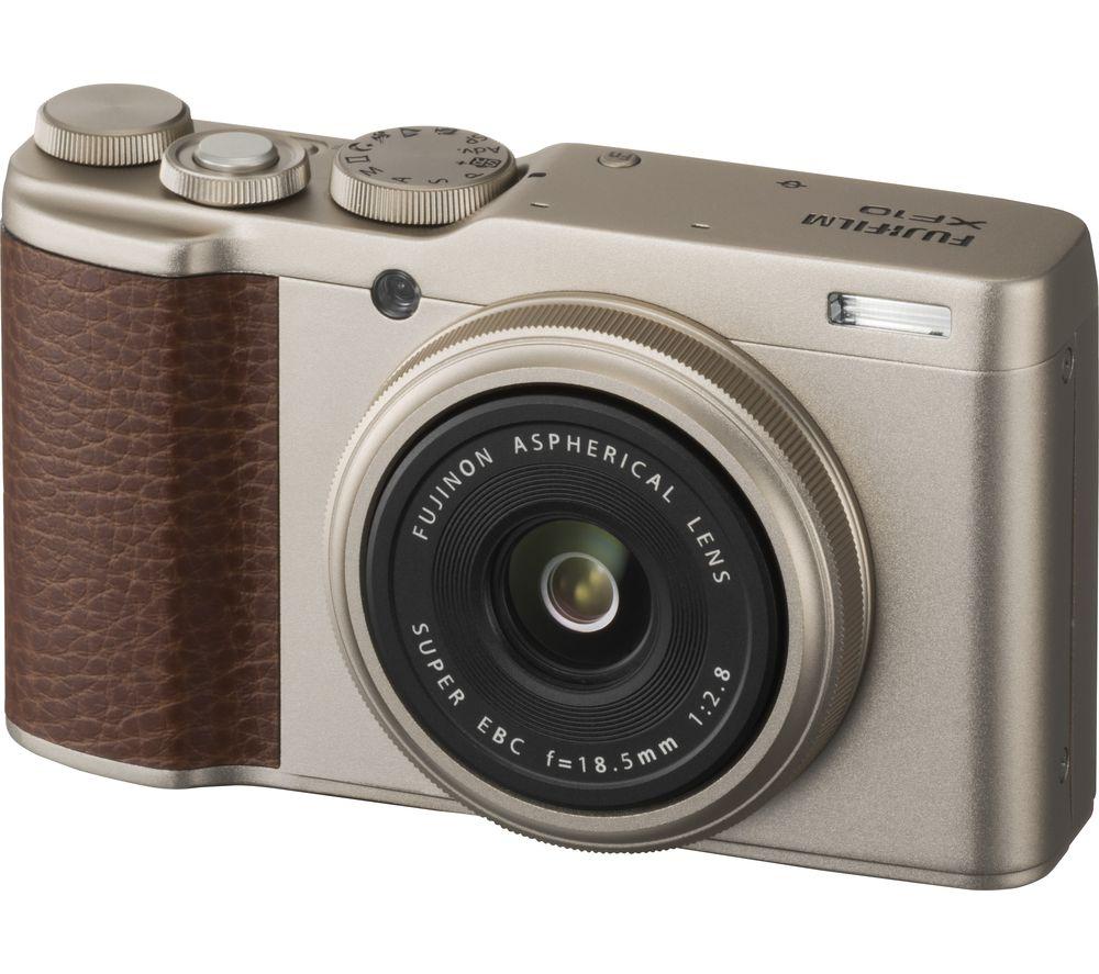FUJIFILM XF10 High Performance Compact Camera - Champagne Gold
