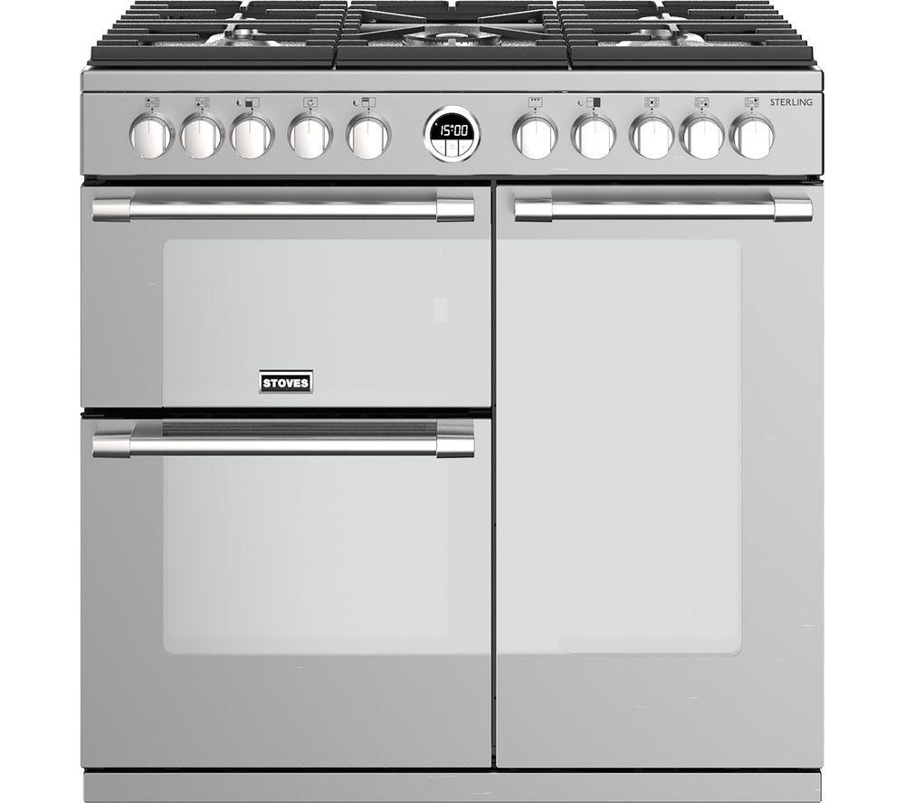 STOVES Sterling S900DF 90 cm Dual Fuel Range Cooker - Stainless Steel