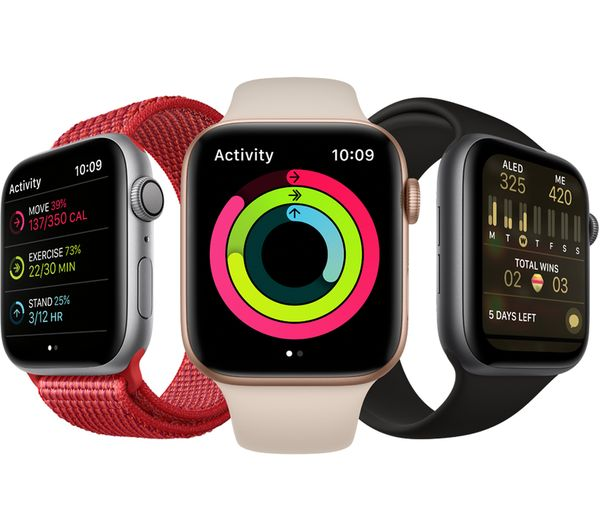 Buy APPLE Watch Series 4 - Gold & Pink Sports Band, 44 mm