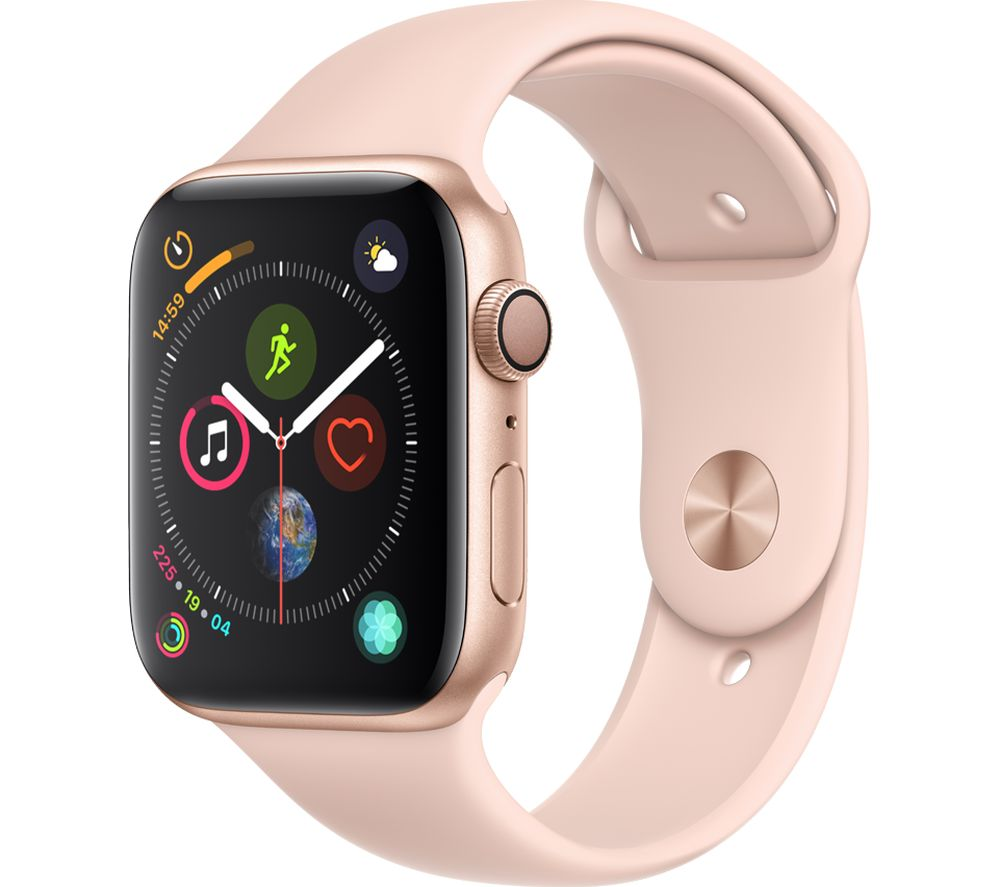 APPLE Watch Series 4 - Gold & Pink Sports Band, 44 mm