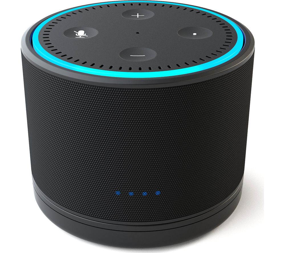 NINETY7 Dox Amazon Echo Dot Battery Base - Black, Black