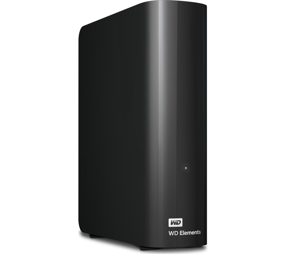 WD Elements External Hard Drive - 8 TB, Black