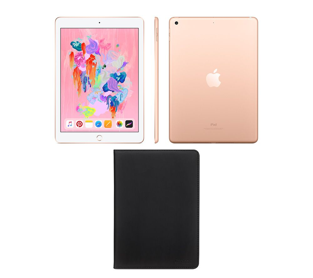 "APPLE 9.7"" iPad (2018) & Black Smart Cover Bundle - 32 GB, Gold"