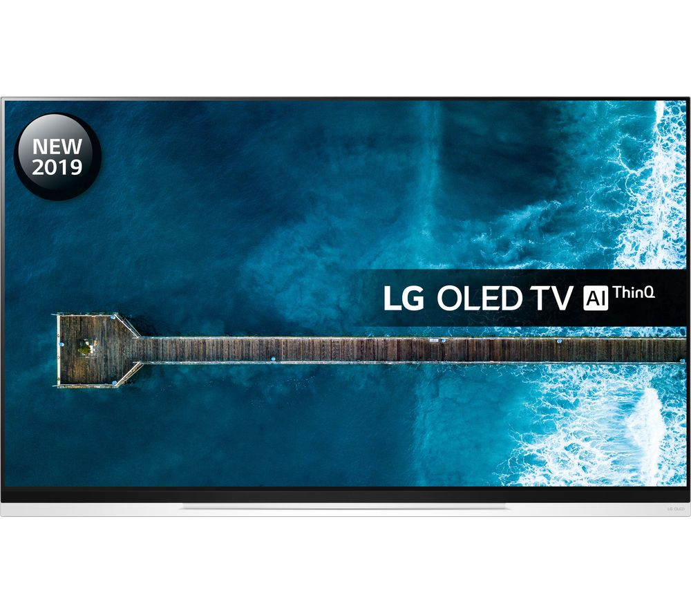 "65"" LG OLED65E9PLA Smart 4K Ultra HD HDR OLED TV with Google Assistant, Black"