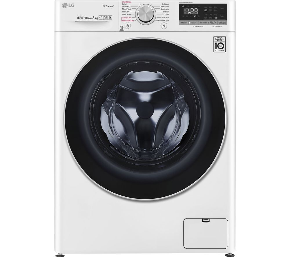 LG AI DD V5 F4V508WS WiFi-enabled 8 kg 1400 Spin Washing Machine - White