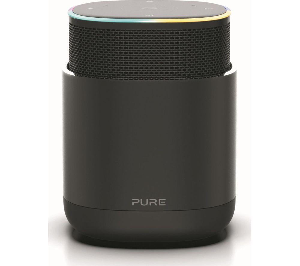 PURE DiscovR Portable Wireless Multi-room Speaker with Amazon Alexa - Graphite