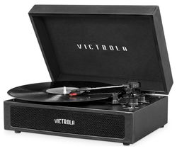 VICTROLA Parker VSC-580BT Portable Belt Drive Bluetooth Turntable - Black