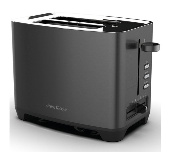 Image of DREW & COLE 2-Slice Toaster - Charcoal