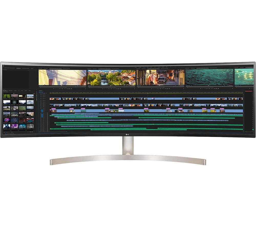 LG 49WL95C-W 49 inch LED IPS Curved Monitor - IPS Panel, 5120 x 1440 Resolution, 5ms Response, Built In Speakers, HDMI