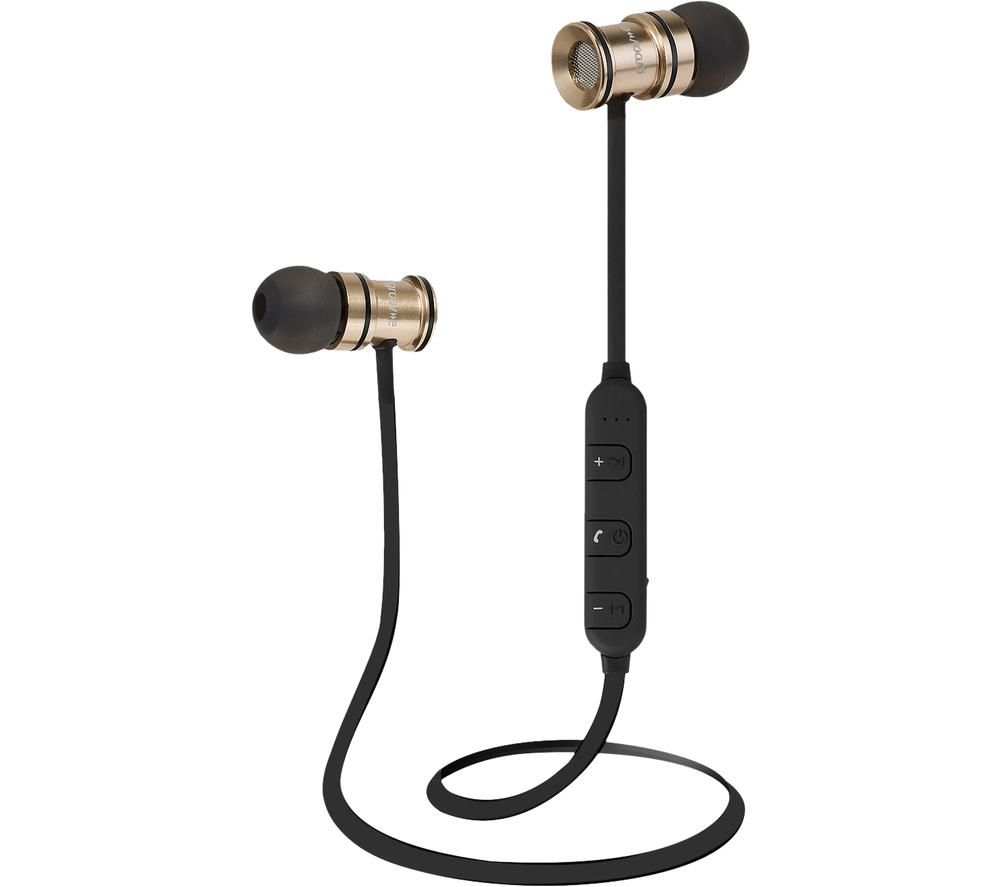 Image of GROOV-E Boom Buds Wireless Bluetooth Earphones - Gold, Gold
