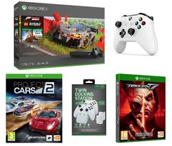 MICROSOFT Xbox One X, Forza Horizon 4, LEGO Speed Champions, Tekken 7, Project Cars 2, Wireless Controller & Docking Station Bundle