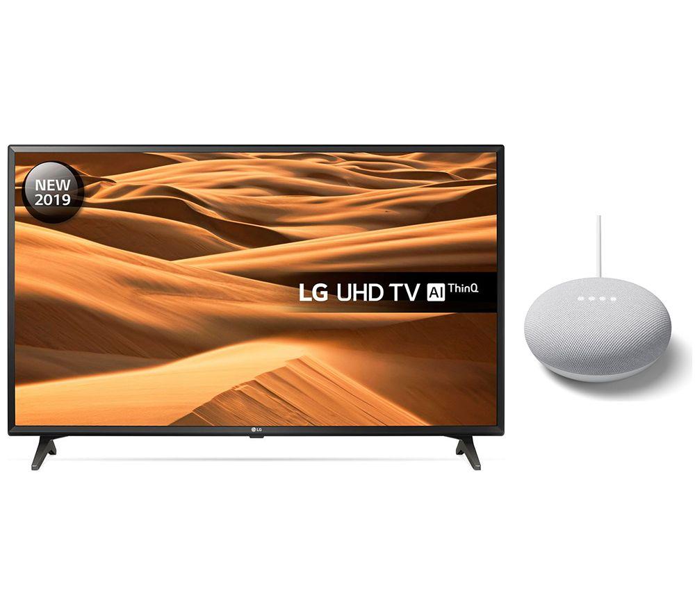 "49"" LG 49UM7000PLA  Smart 4K Ultra HD HDR LED TV & Google Nest Mini Chalk Bundle"
