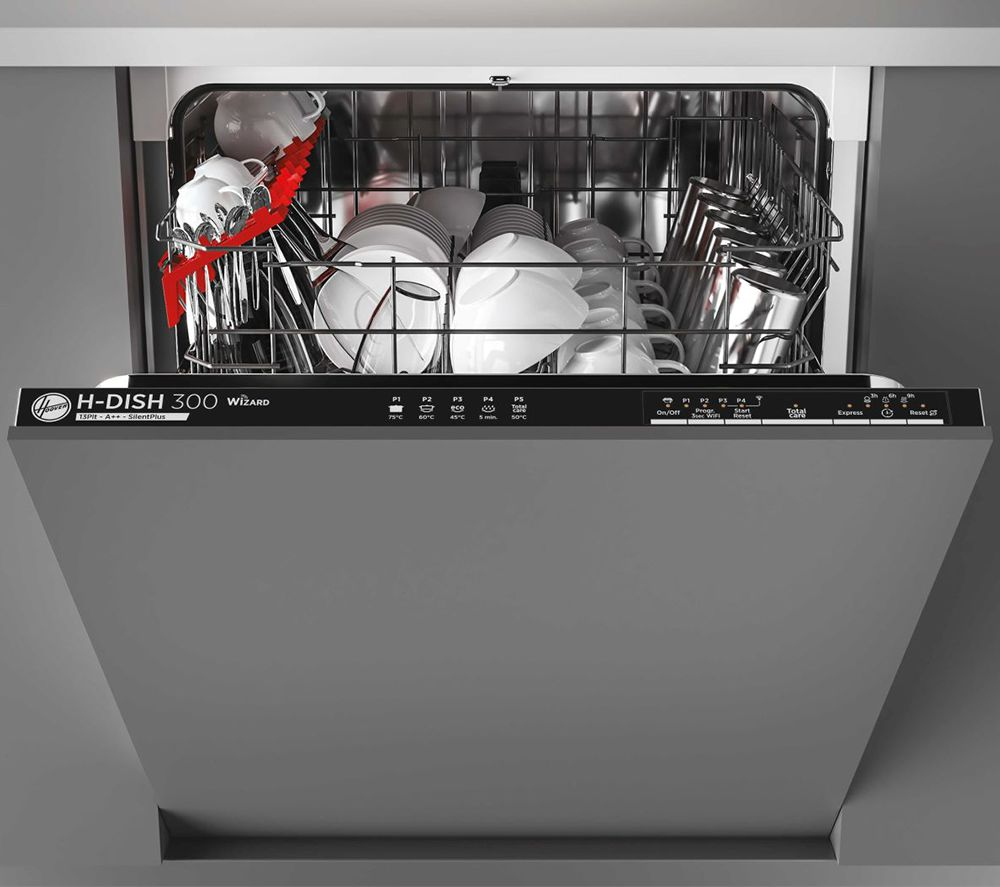 HOOVER H-Dish 300 HDIN 2L360PB-80 Full-size Fully Integrated WiFi-enabled Dishwasher