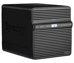 DS420J Disk Station Server NAS Drive - 16 TB, 4 Bay, Black
