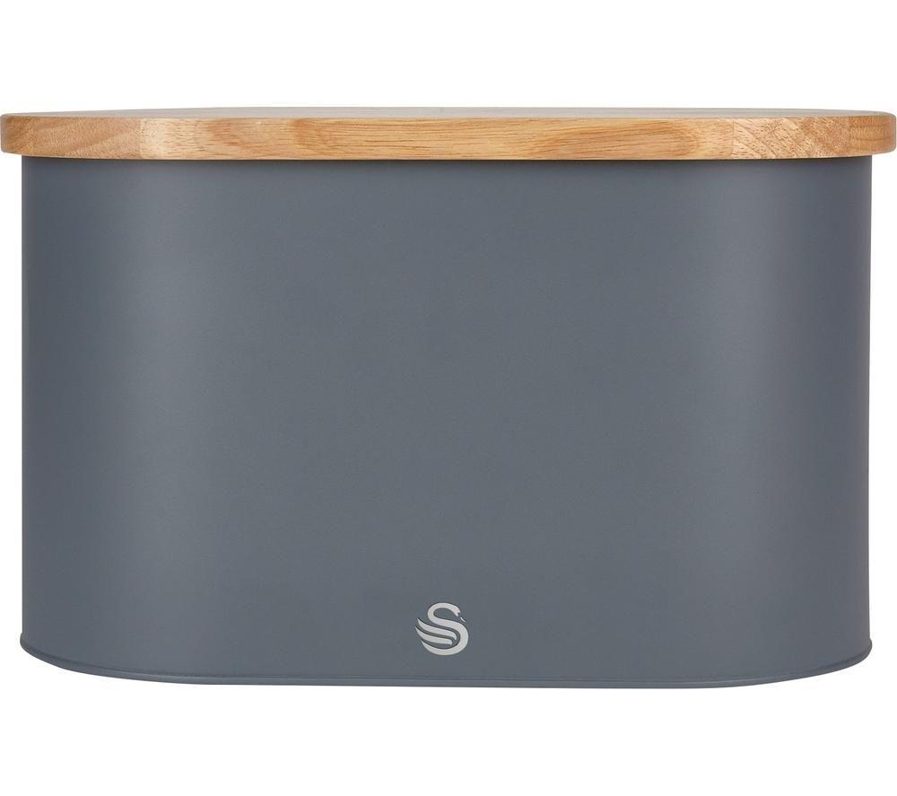 SWAN Nordic Bread Bin - Slate Grey, Grey