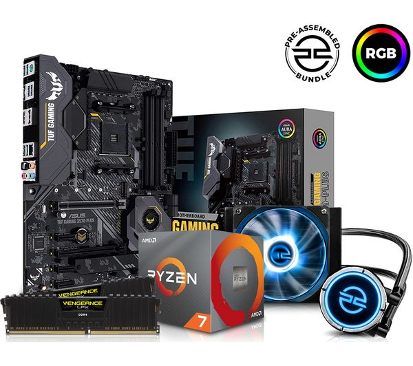 Image of PC SPECIALIST AMD Ryzen 7 Processor, TUF Gaming Motherboard, 16 GB RAM & FrostFlow Liquid Cooler Components Bundle