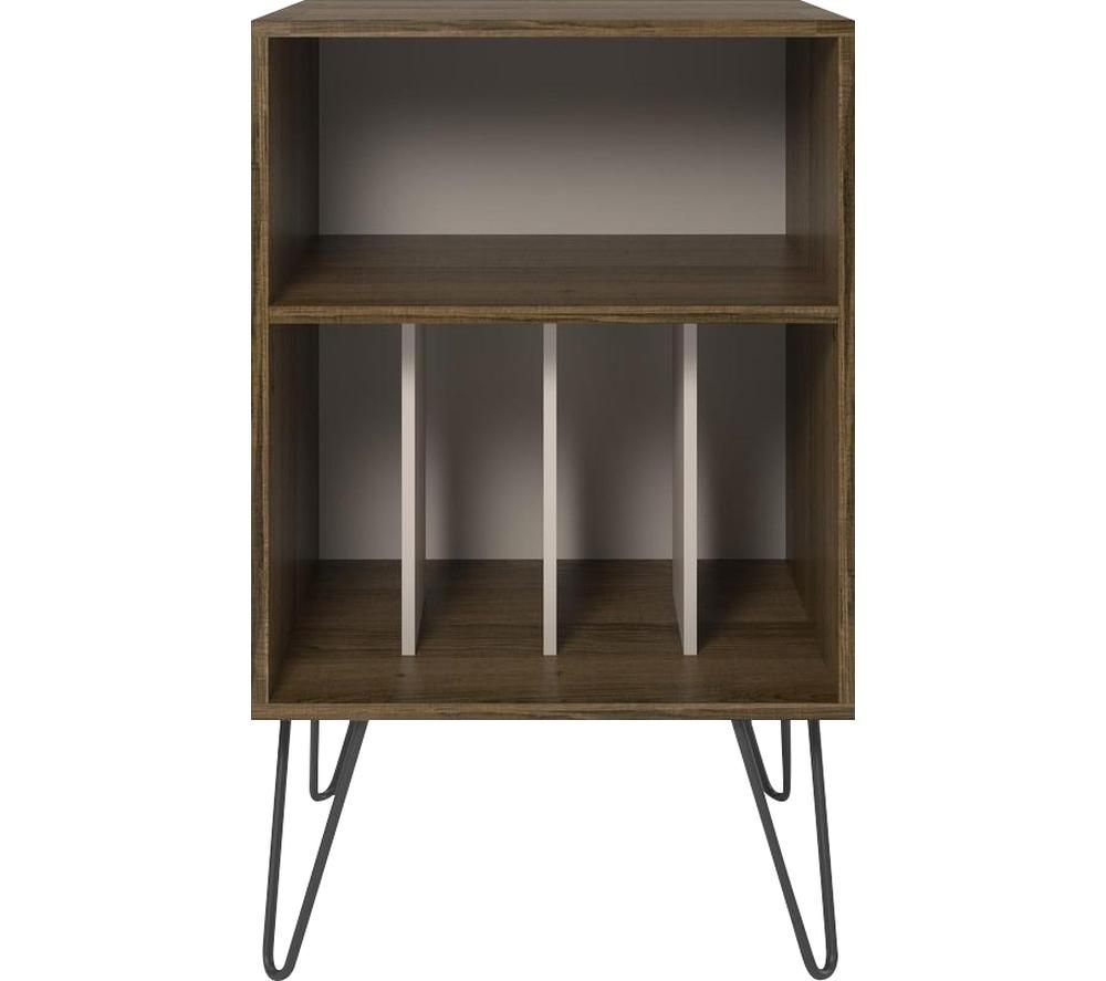 Image of DOREL HOME Concord 1324322COMUK Turntable Stand - Oak Brown, Brown