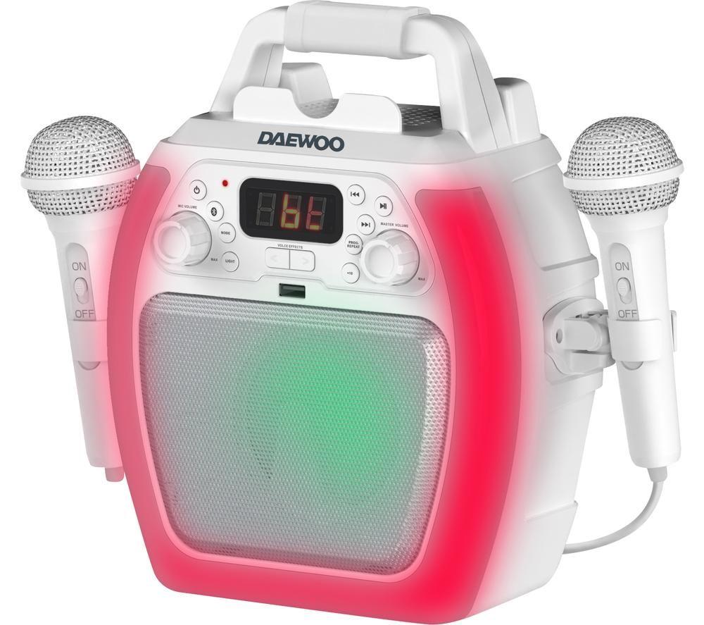 DAEWOO AVS1493 Bluetooth Karaoke System - White, White