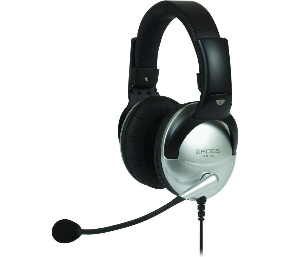 Image of KOSS SB45USB Headset - Black & Silver, Black