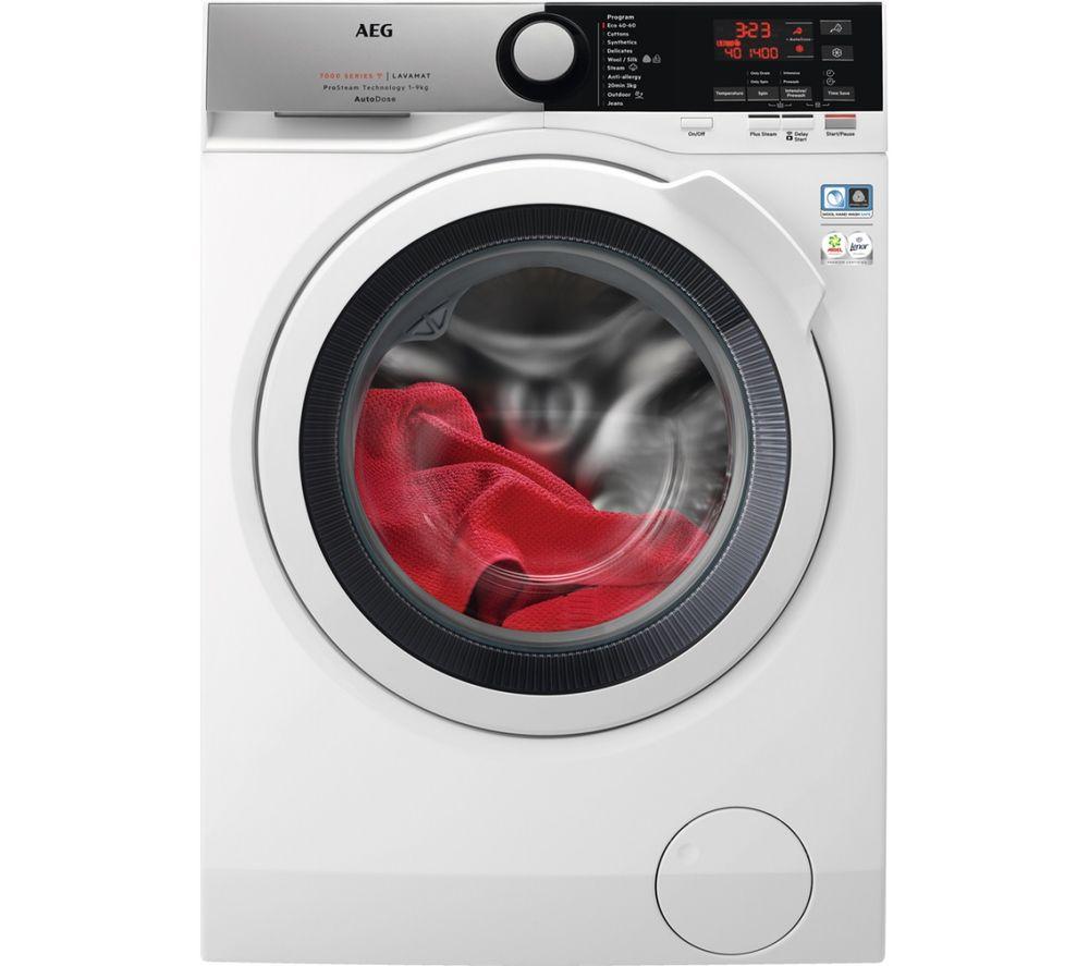 AEG ProSteam & AutoDose L7FBE942CA 9 kg WiFi-enabled 1400 Spin Washing Machine - White, White